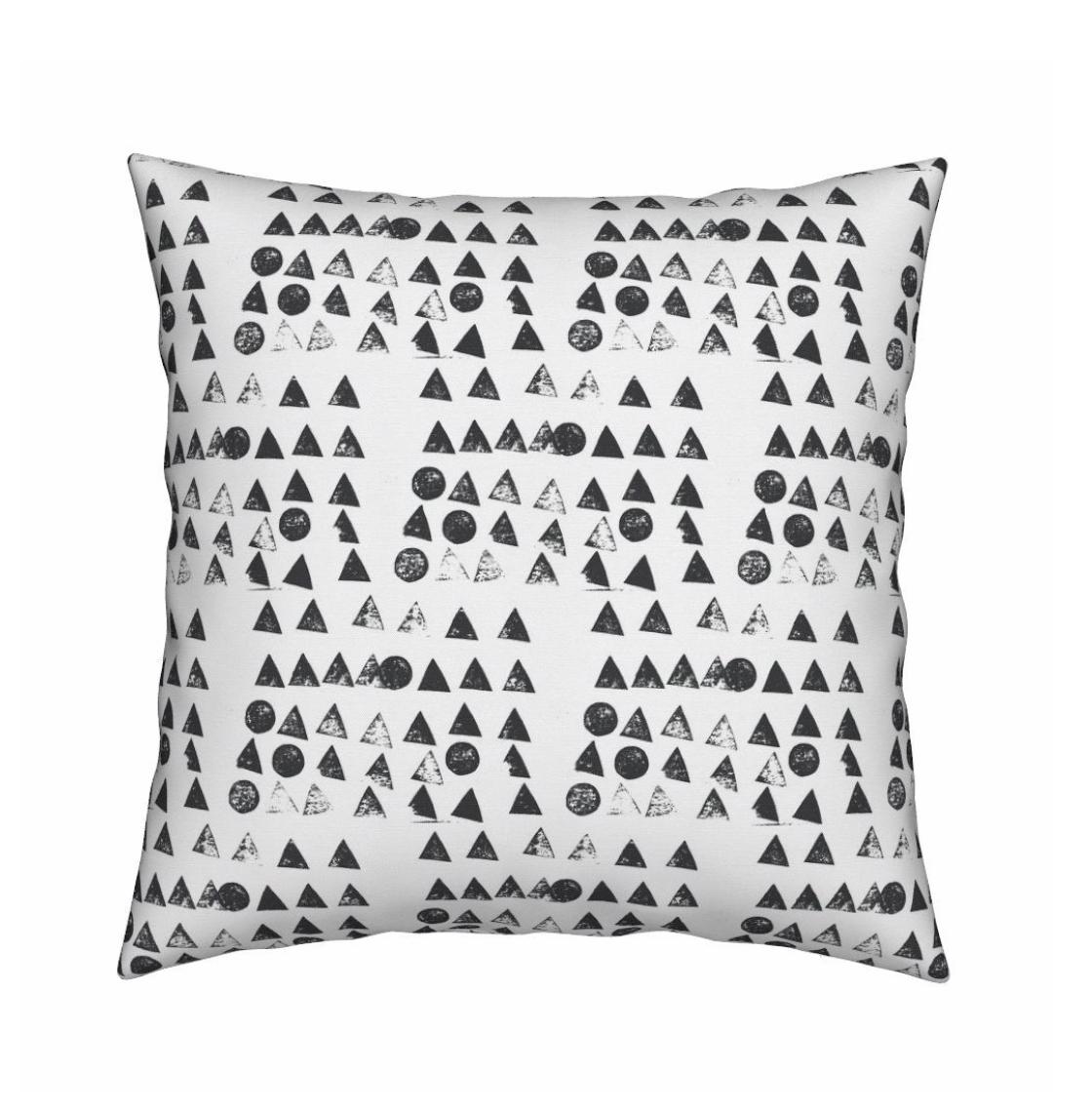 Moon + Tree Carbon Pillow