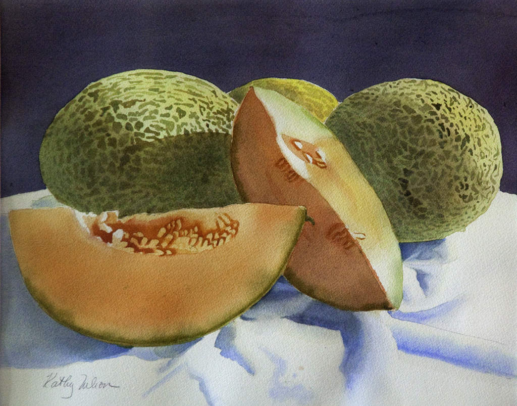 CANTELOPE, Watercolor on Arches