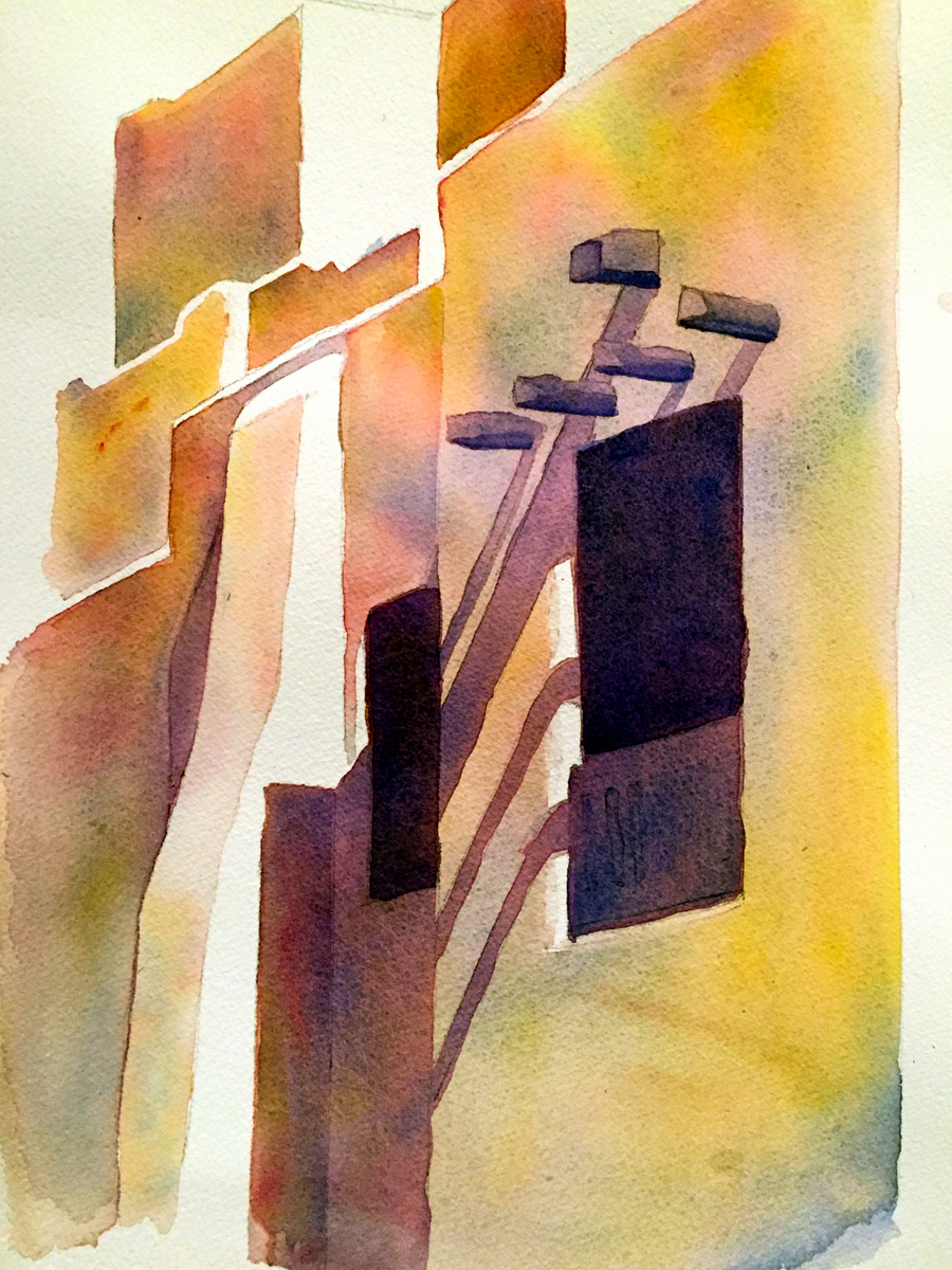 SANTA FE, Watercolor on Arches