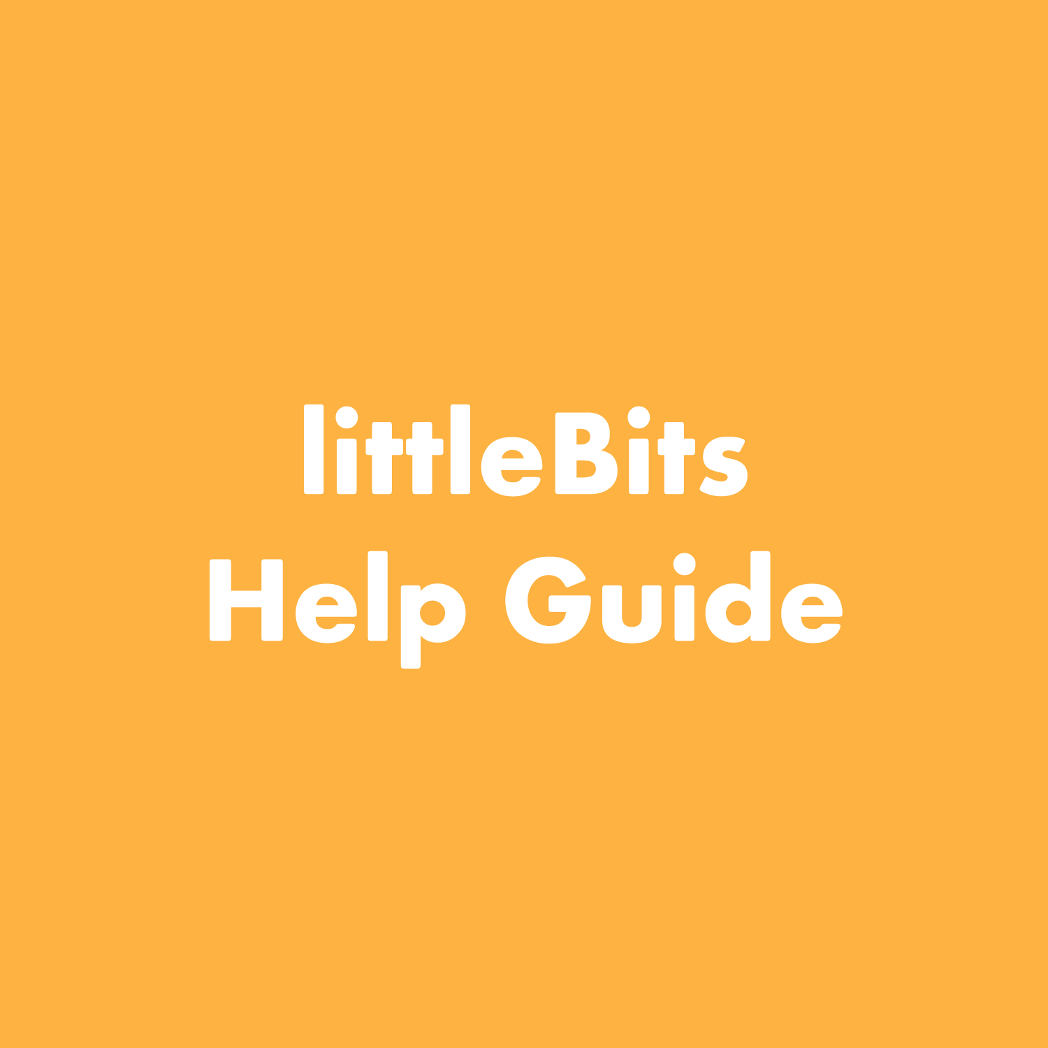 PDF: littleBits Troubleshooting