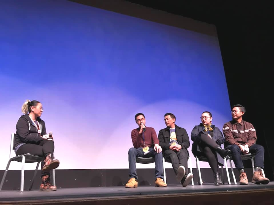 Fillmmaker Zishun Ning speaking on panel at Seattle Asian American Film Festival