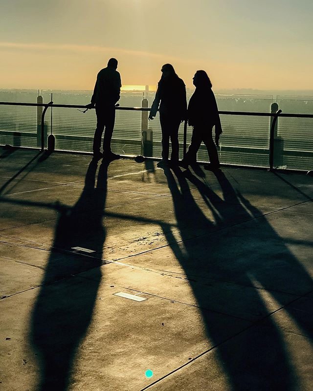 silhouettes.  Griffith Park, CA
