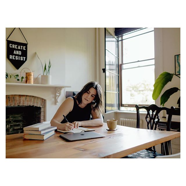 director and theatre maker, Caitlin Sullivan, at her home in the west village.  June 2019
