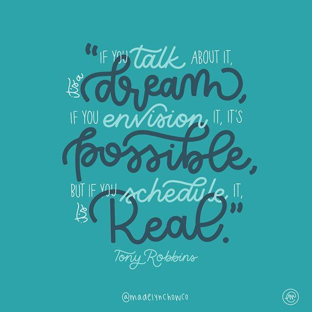 🗣✨+ 👀👌🏼 + 📆🥳 wise words, @tonyrobbins! | 🎨: @madelynchowco