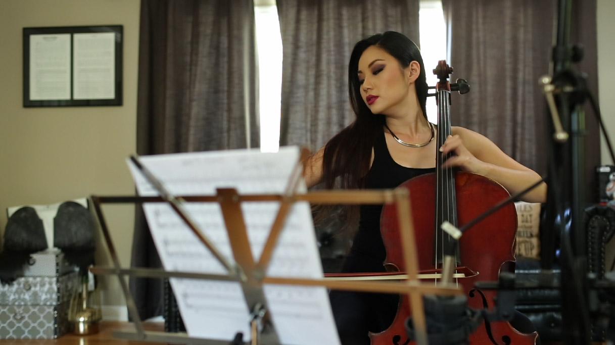 Tina Guo in the studio - October 2015