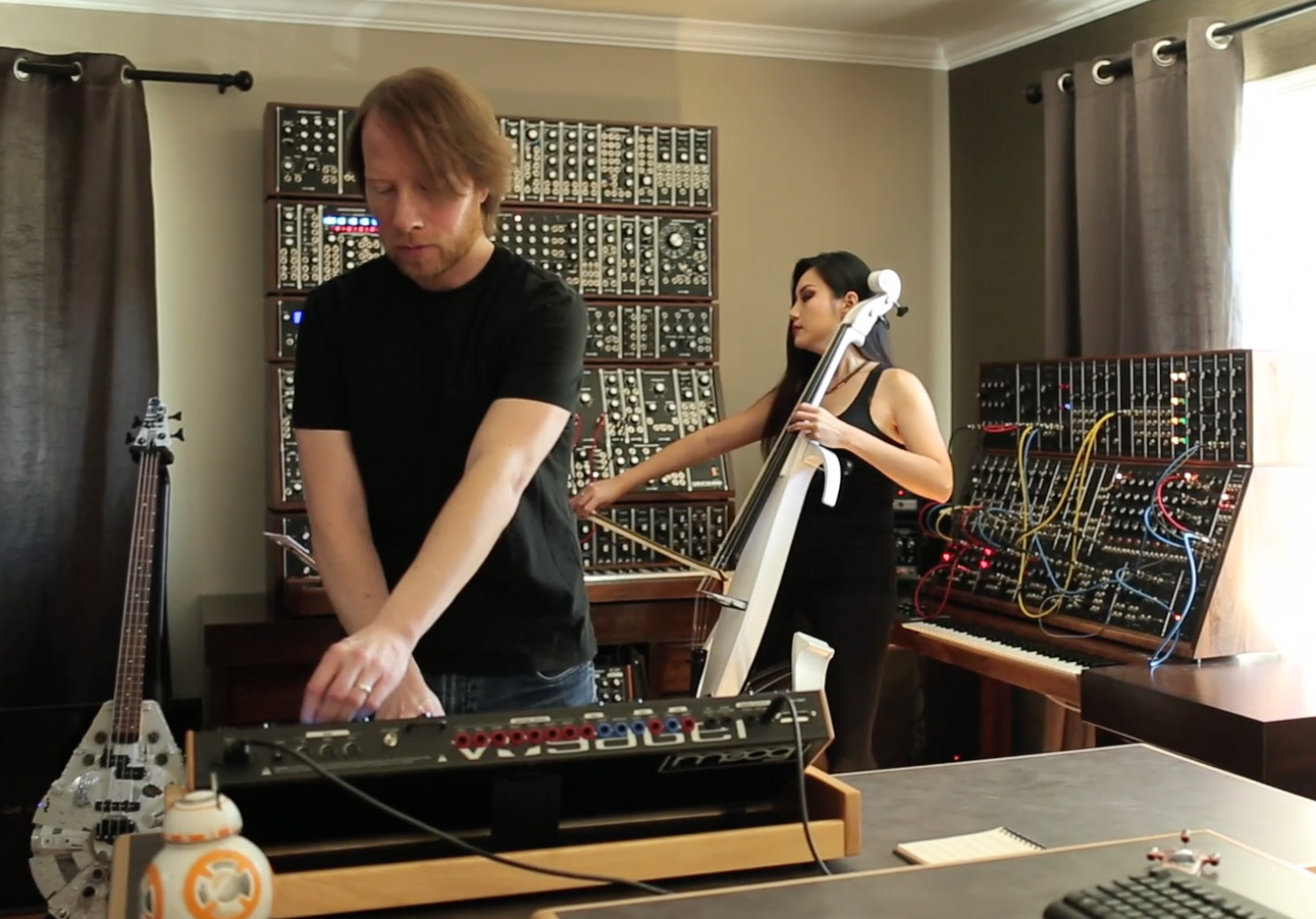 Bill and Tina in the studio - Oct. 2015