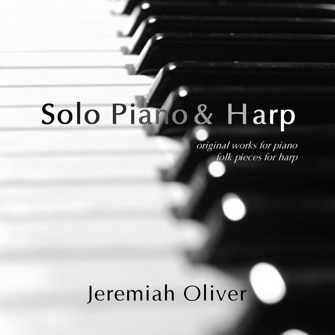 8 original works for piano & 5 folk pieces for harp -