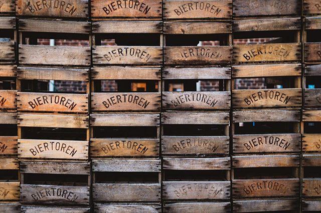 Symmetry in beer crates, or you could say a 'biertoren', at Brouwerij Van Campenhout.