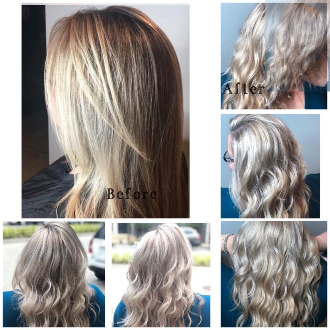Rebecca Crosby Stylist Artistik Edge Hair Salon Lake Highlands Texas blonde before and after curls.png