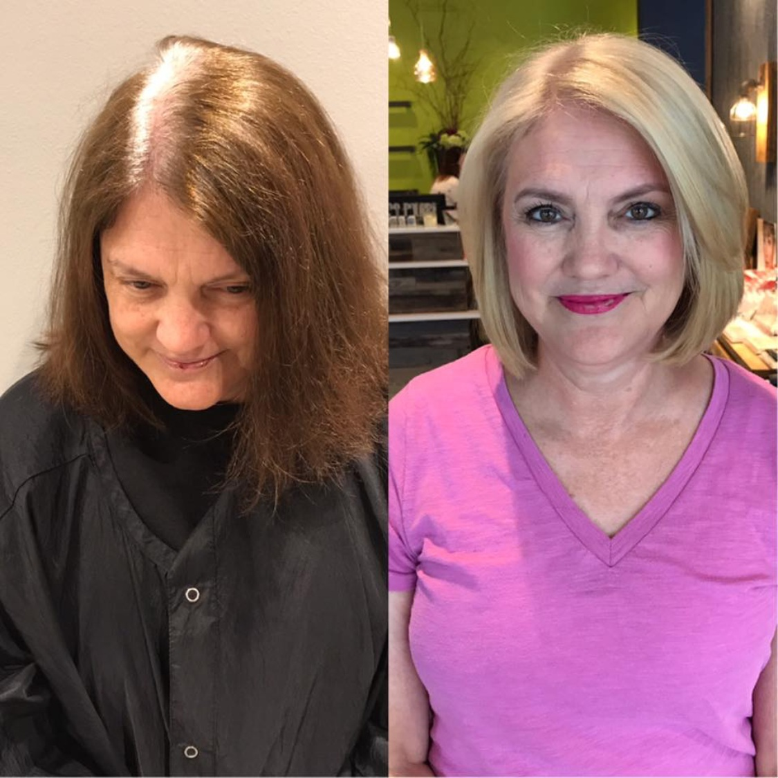 Rebecca Crosby Stylist Artistik Edge Hair Salon Lake Highlands Texas Blonde before and after.png