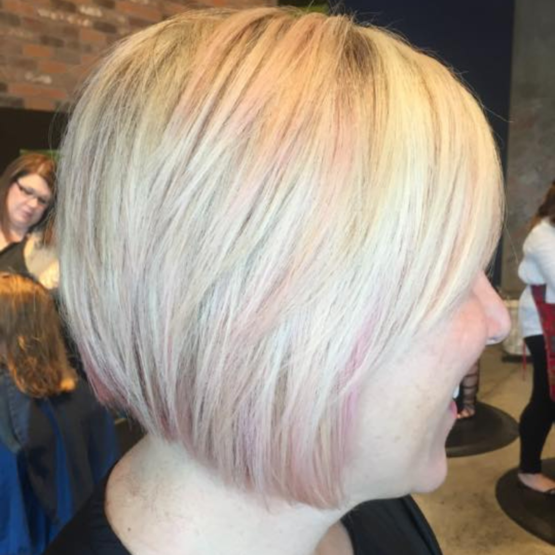 Rebecca Crosby Stylist Artistik Edge Hair Salon Lake Highlands Texas Blonde Pink Bob.png