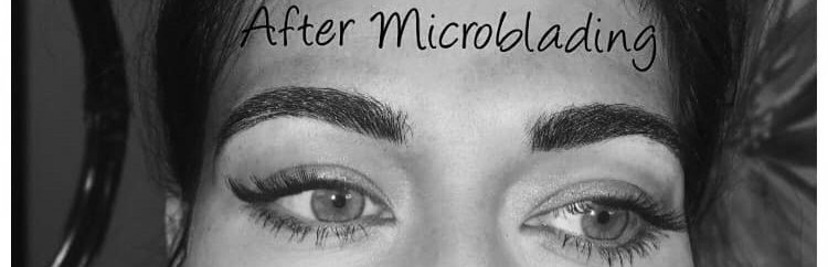 Microblading brows at Artistik Edge Hair Studio After