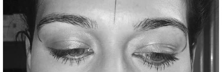Microblading brows at Artistik Edge Hair Studio before