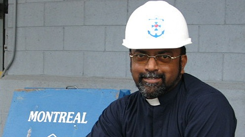 Fr. Andrew Thavarajasingam  Aumônier de port,  Apostleship of the Sea