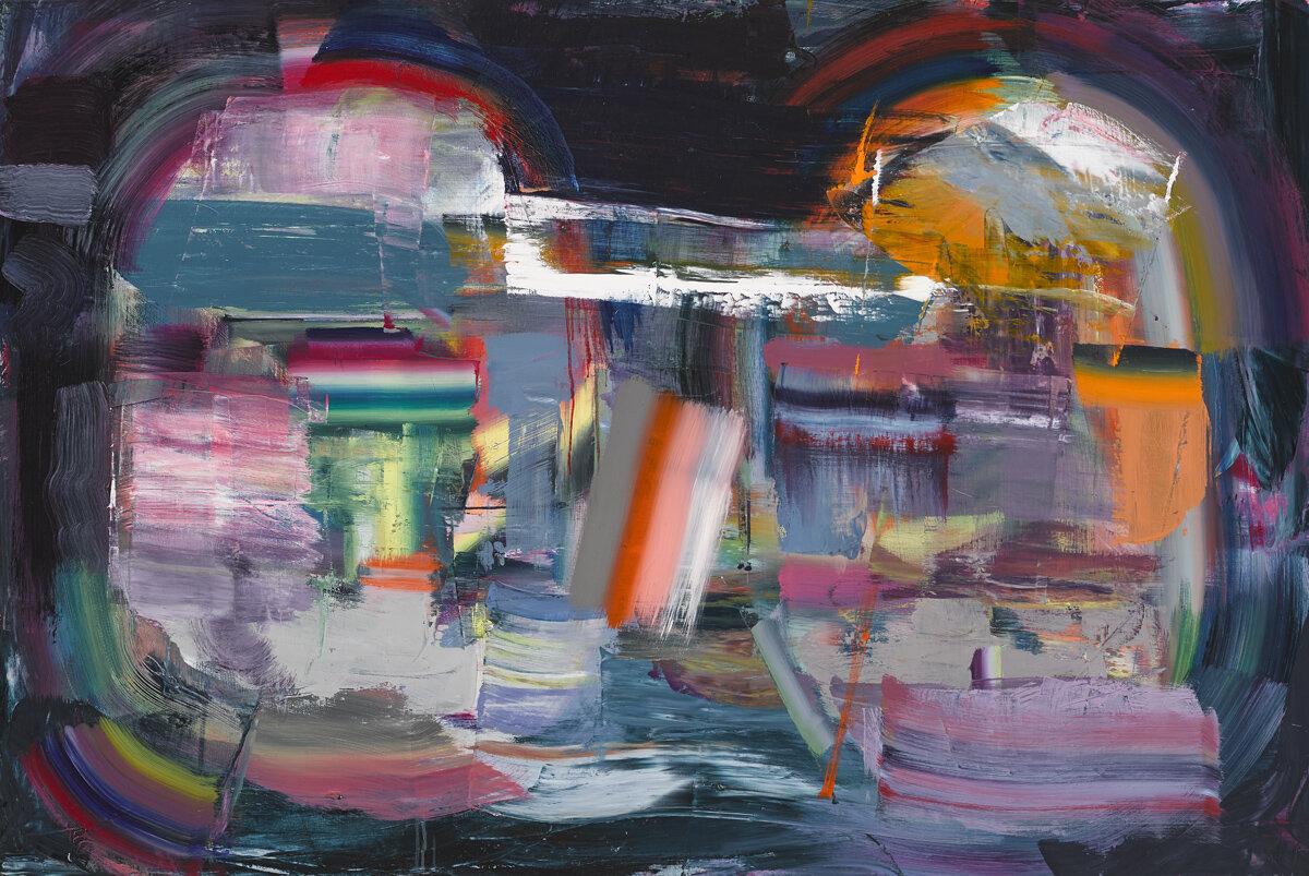 Orbital , 2017, Diana Copperwhite, Oil on canvas, 100 x 150cm