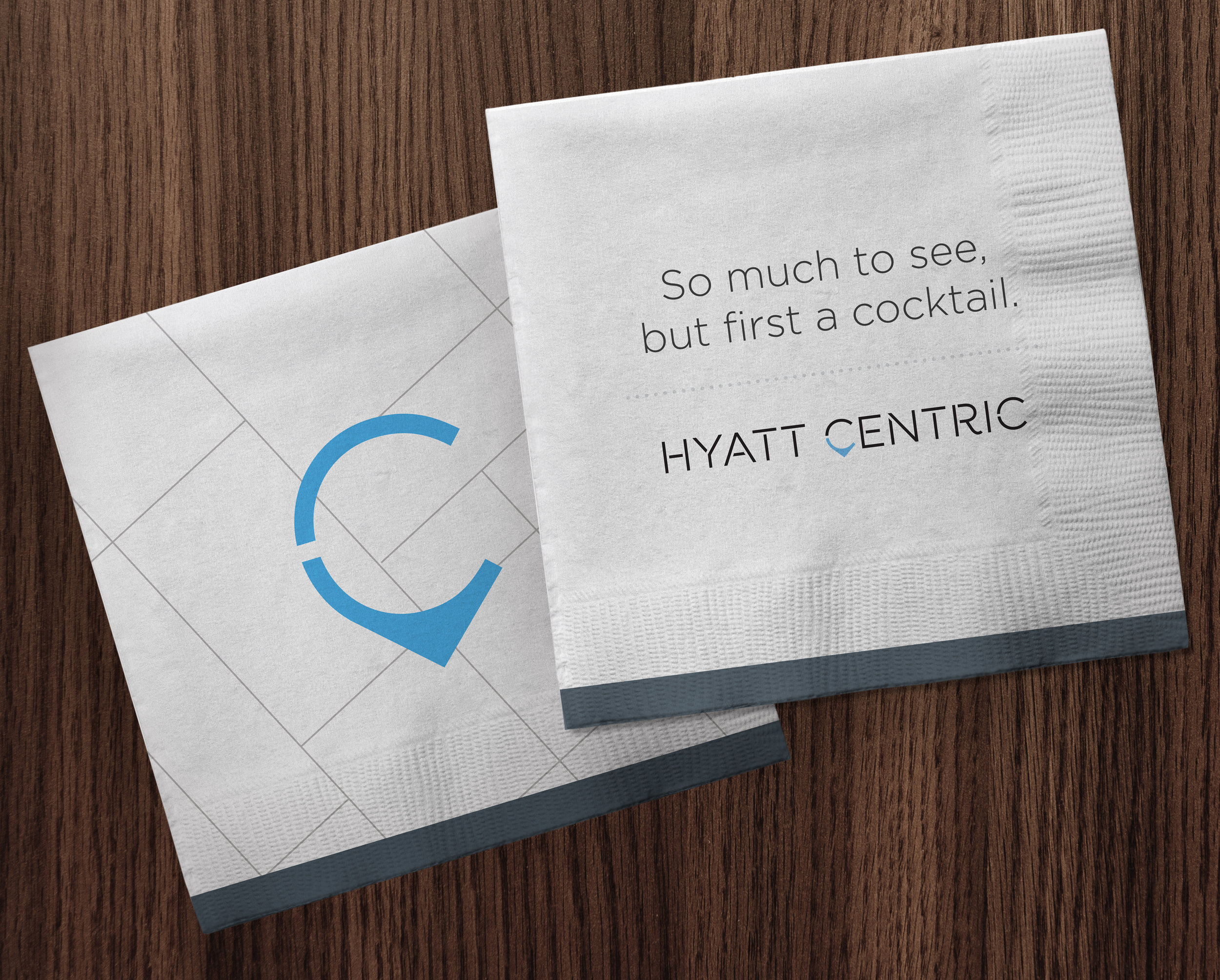 Hyatt Centric branded materials by OMIH ad agency