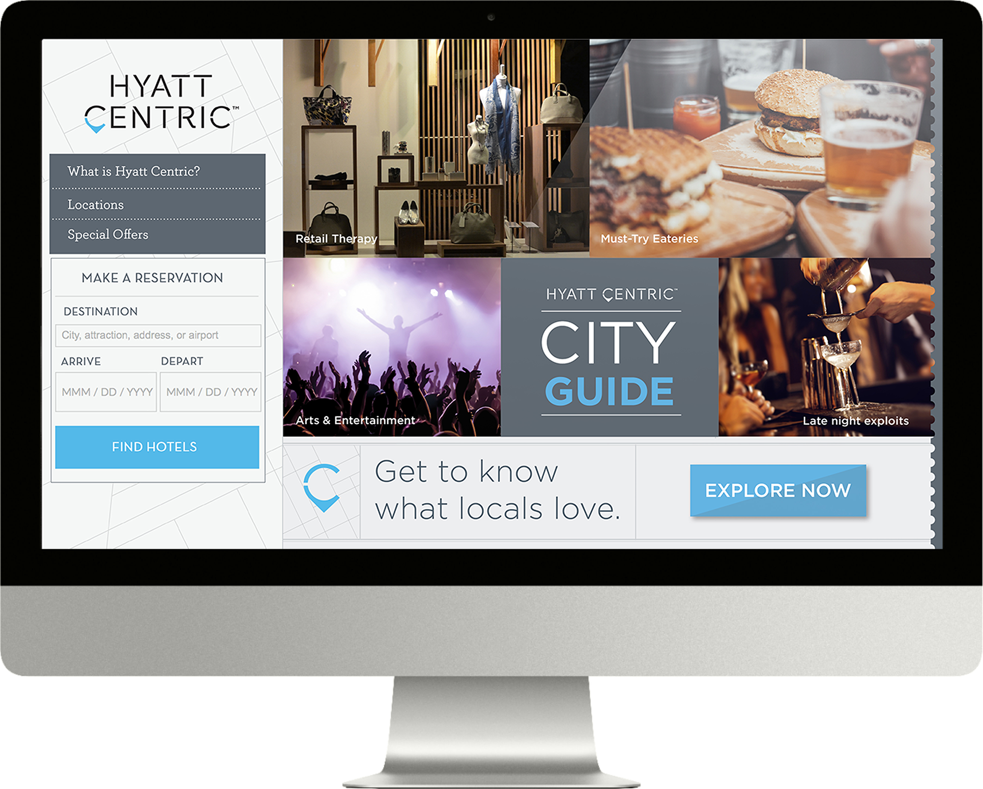 Hyatt Centric - website design for hotel by OMIH creative agency