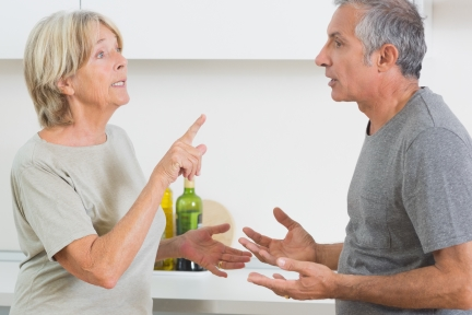 Wife arguing with her husband