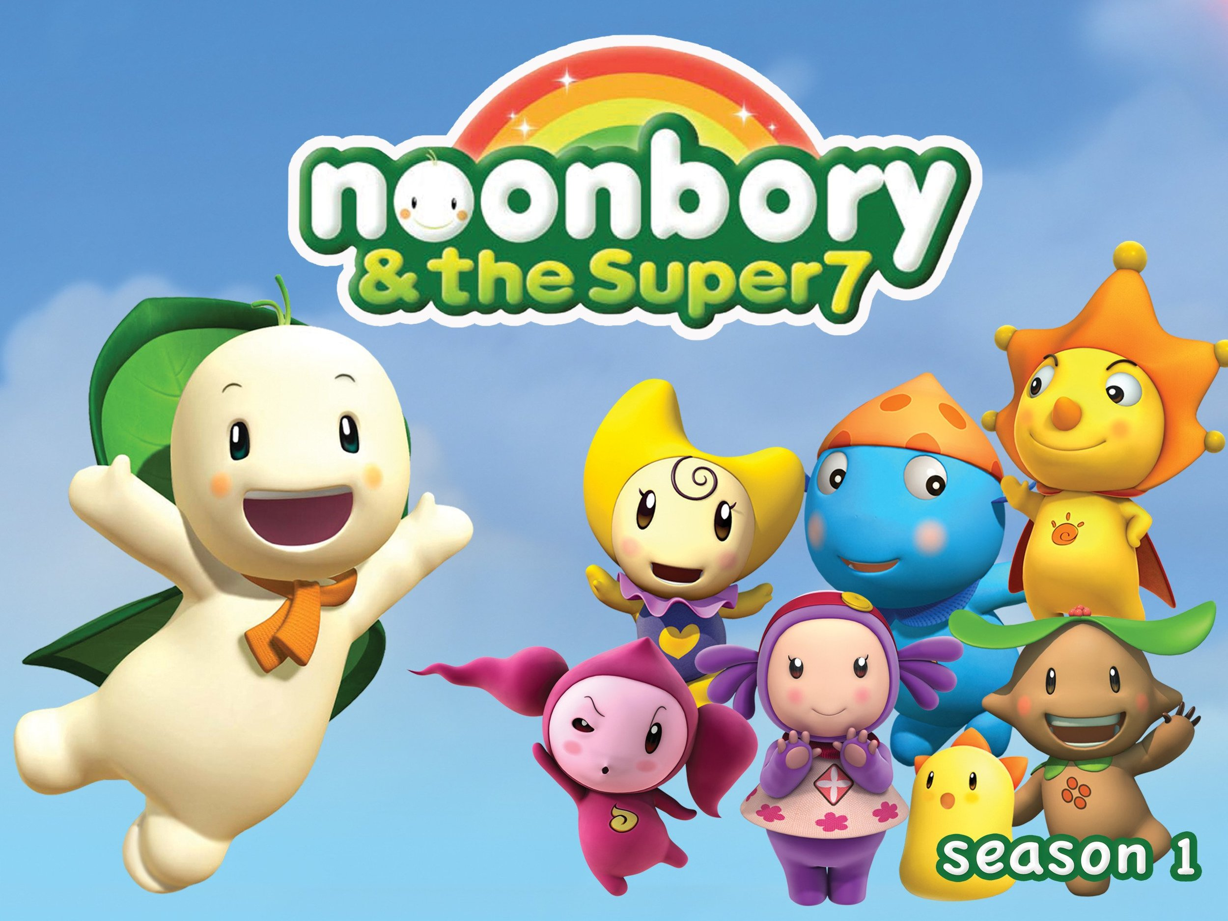 NOONBORY AND THE SUPER 7 - (Animated Series, Released 2009(A group of superheros with supersenses works to save the day when villainy threatens in the whimsical world of Toobalooba. Each hero has a supersense that can be used with the others' senses to foil trouble. Noonbory and his team also teach children how to use their special skills and talents in combination with others' to solve problems.  Brent Hirose voices Noonbory, leader of the Super 7.