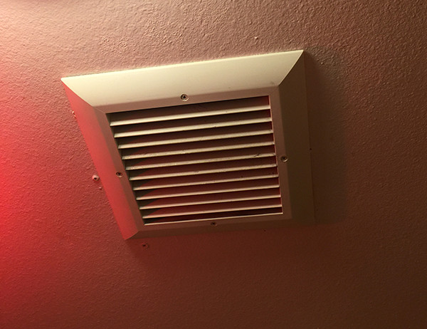 Ceiling vent used for the server room intake (I used  the same kind  for the house side exhaust).