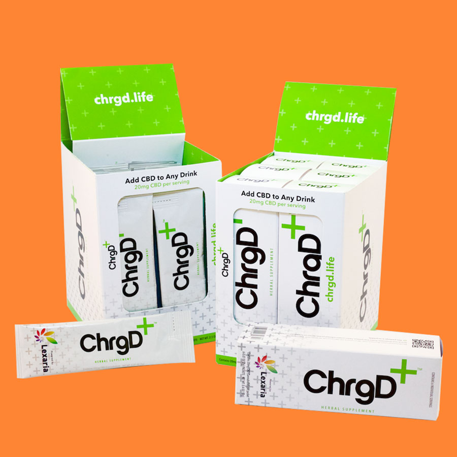 CHrgd+ - An unflavored and unsweetened powder that lets you add CBD to any beverage, hot or cold.