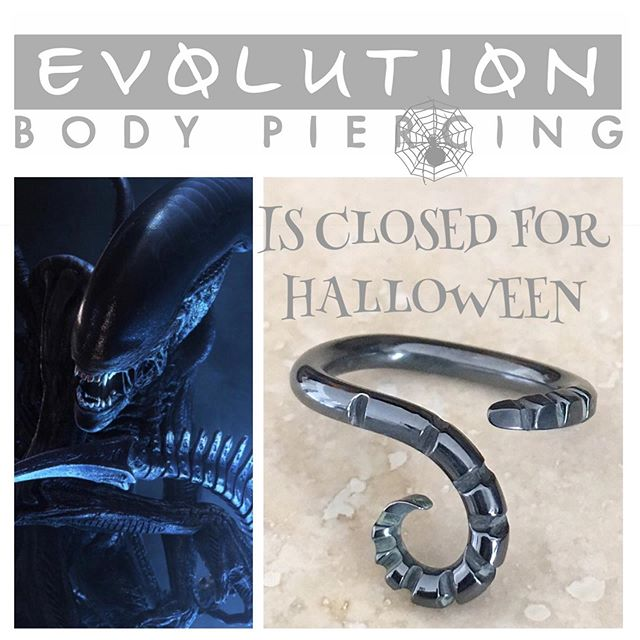 We're closed for Halloween- come see us this weekend! Pictured here: spooky styles from our head piercer Noah Babcock's line Interstellar Jewelry Productions. @interstellarjewelryproductions
