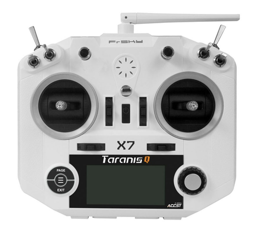 TaranisQX7 - Similar to the Taranis, but cheaper build quality. A good option for beginners.Pro - Slightly cheaper than a Taranis PlusCon - Cheaper build quality