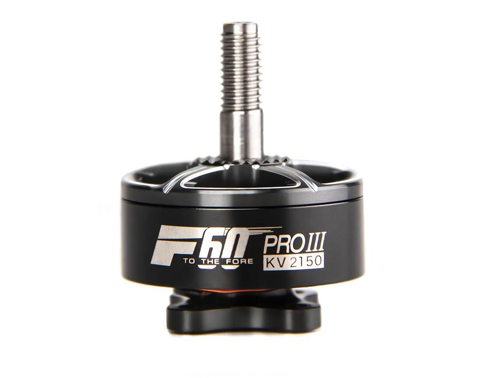T-Motor f60 pro iii 2150kv - We worked with T-motor to develop the perfect racing motor for 6s throttle limit and 5s no limit. The result is a single strand winding motor, which is different than the multi-strand winding of the previous F60 Pro's