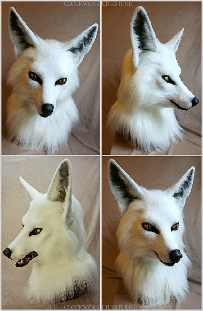 basic white fox head -$2000 - Features Include:moving jaw