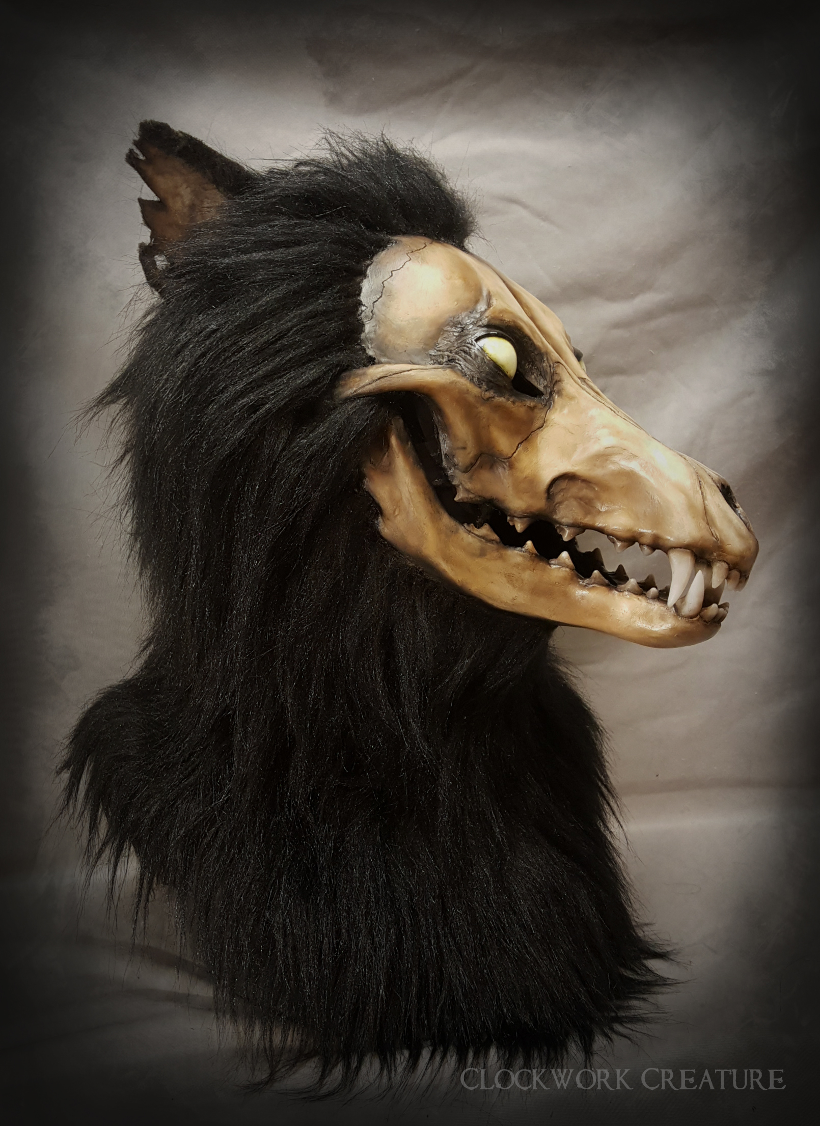 Wolf Skull Head - $2000 - Features Include:Moving jaw (w/ extended jawset)Skull face
