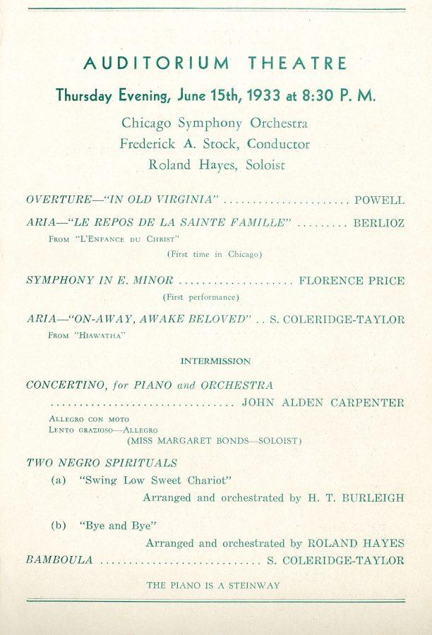 Century of Progress program (1933). Rosenthal Archives, Chicago Symphony Orchestra.