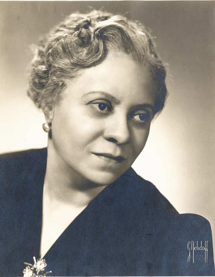 A photograph of Florence Price by G. Nelidoff, Rosenthal Archives, Chicago Symphony Orchestra.