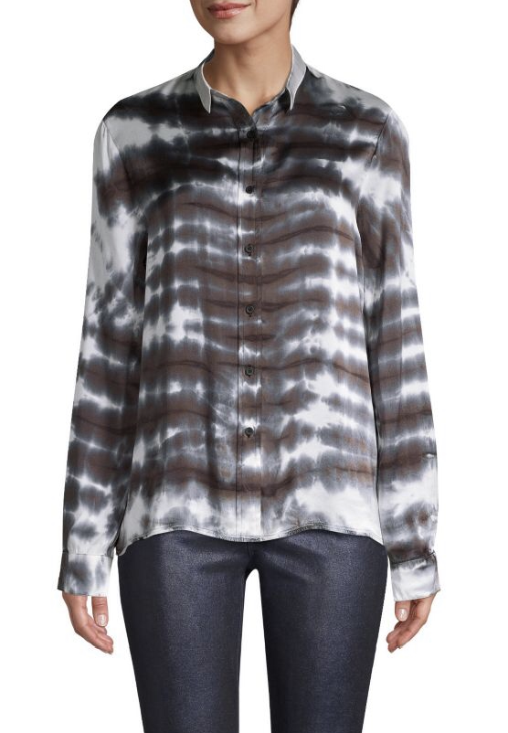RtA Blythe Tie-Dye Button-Down Shirt, $295