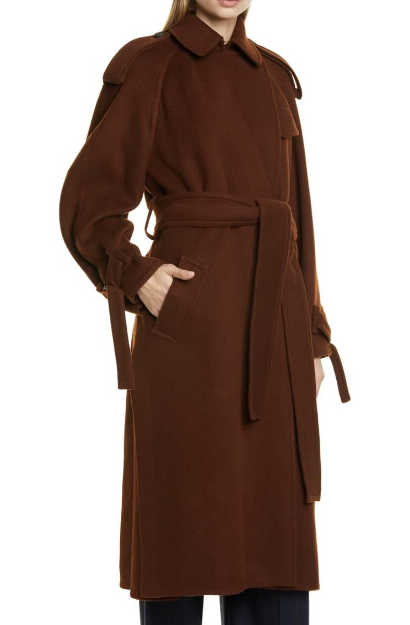 Belted Wool Blend Trench Coat, Vince, $895