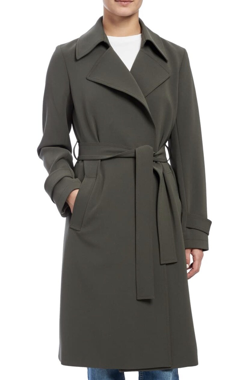 Oaklane Admiral Crepe Trench Coat, Theory $635