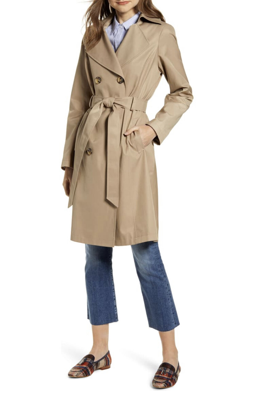 Double Breasted Trench Coat, Sam Edelman, $220