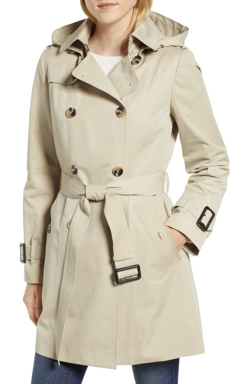 Trench Coat with Detachable Liner & Hood, London Fog, $198