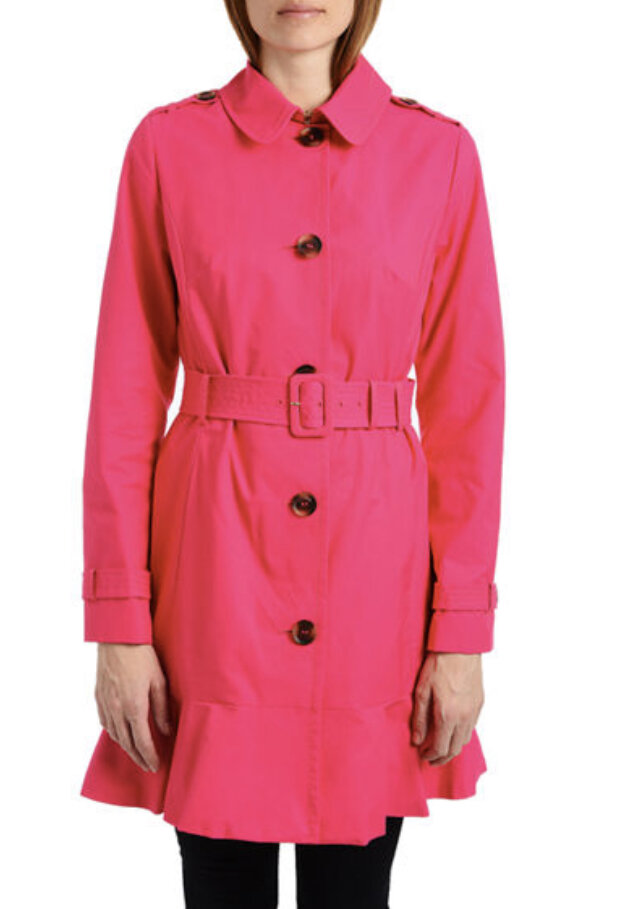 Belted peplum trench coat, Kate Spade New York, $278
