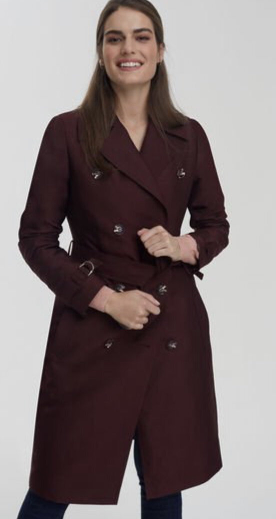 Belted Sheen Trench Coat, Long Tall Sally, $239