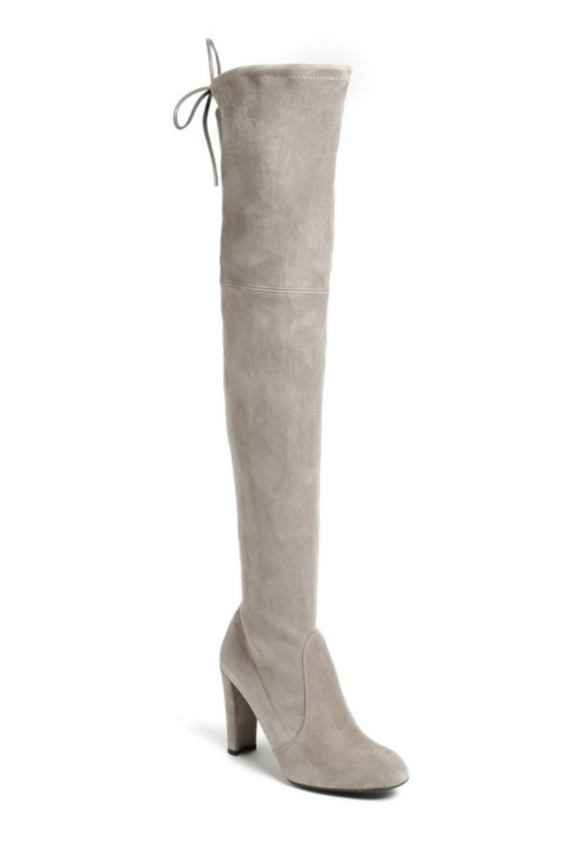 over the knee suede boots by Stuart Weitzman. Womens fashion necessity for cute winter and fall outfits.