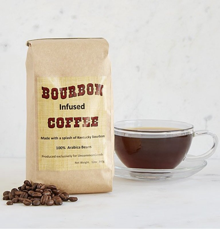 Bourbon and coffee make this creative combination for men's Christmas gifts.
