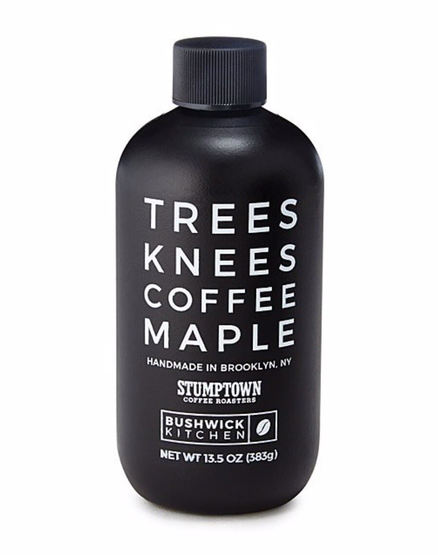 Coffee infused maple syrup makes a unique gift idea for coffee loving men.