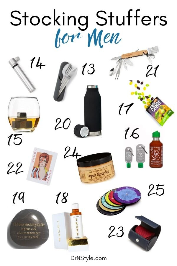 The list of excellent stocking stuffer ideas for men continues with this list that includes a sriracha keychain, whiskey stones, craft beer candy and more!
