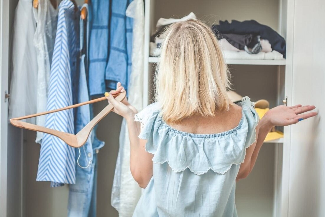 Decluttering your closet once and for all.