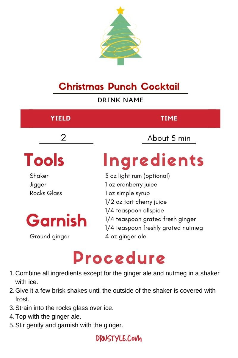 The Greenhouse Tavern's Christmas Punch Cocktail Recipe