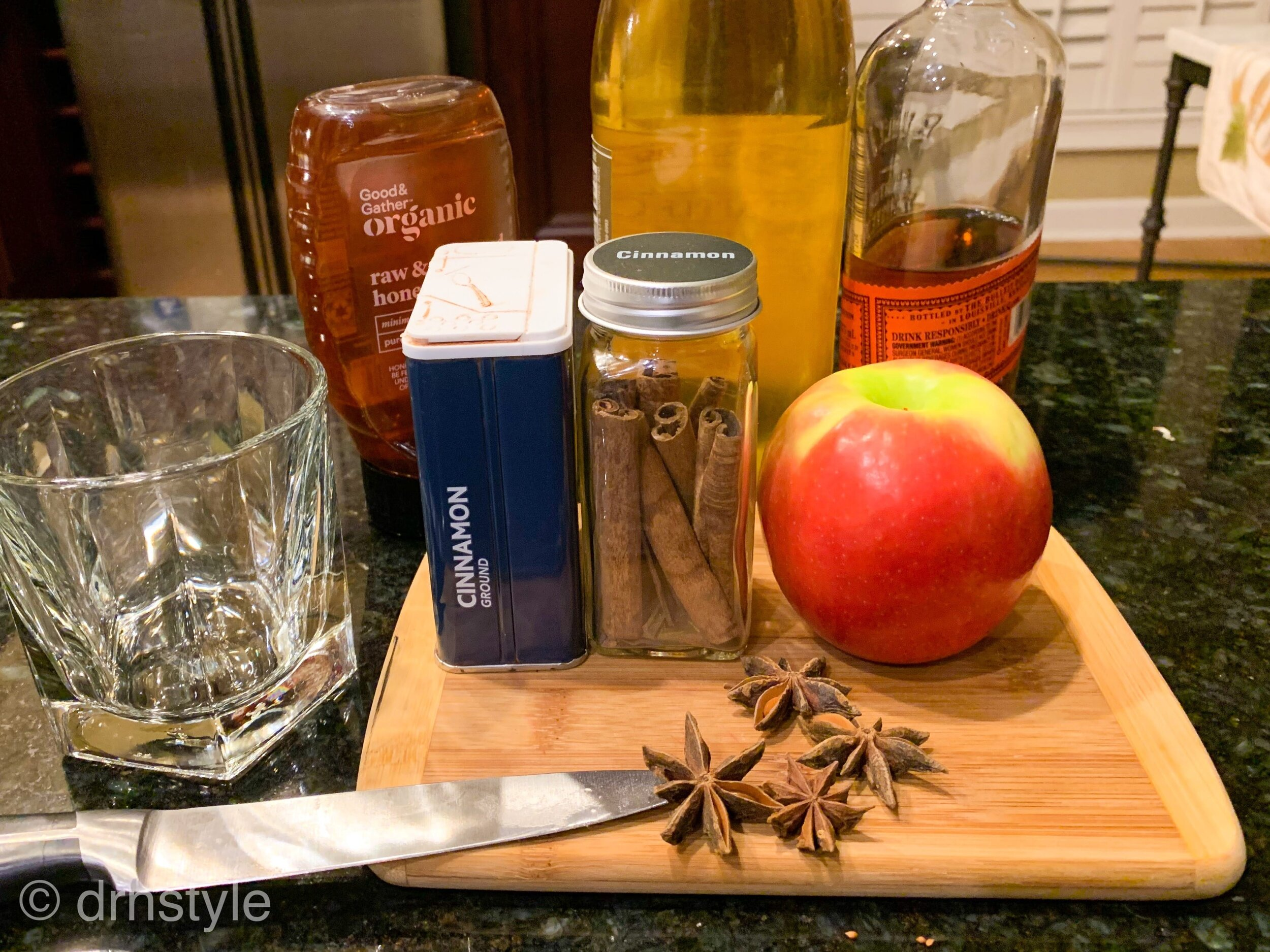 Apple Cider Bourbon Cocktail Ingredients