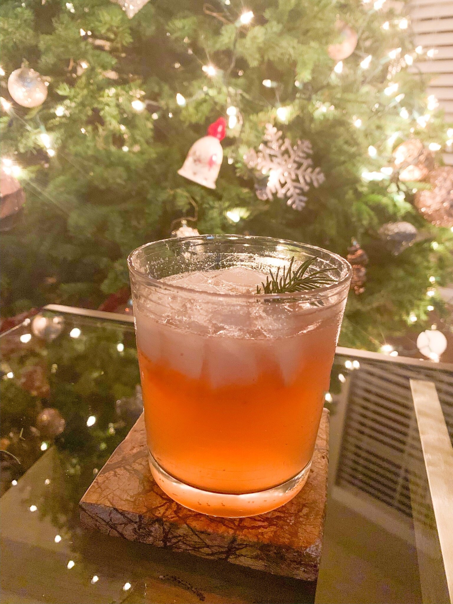 Making a delicious Muddled Pine Christmas gin cocktail