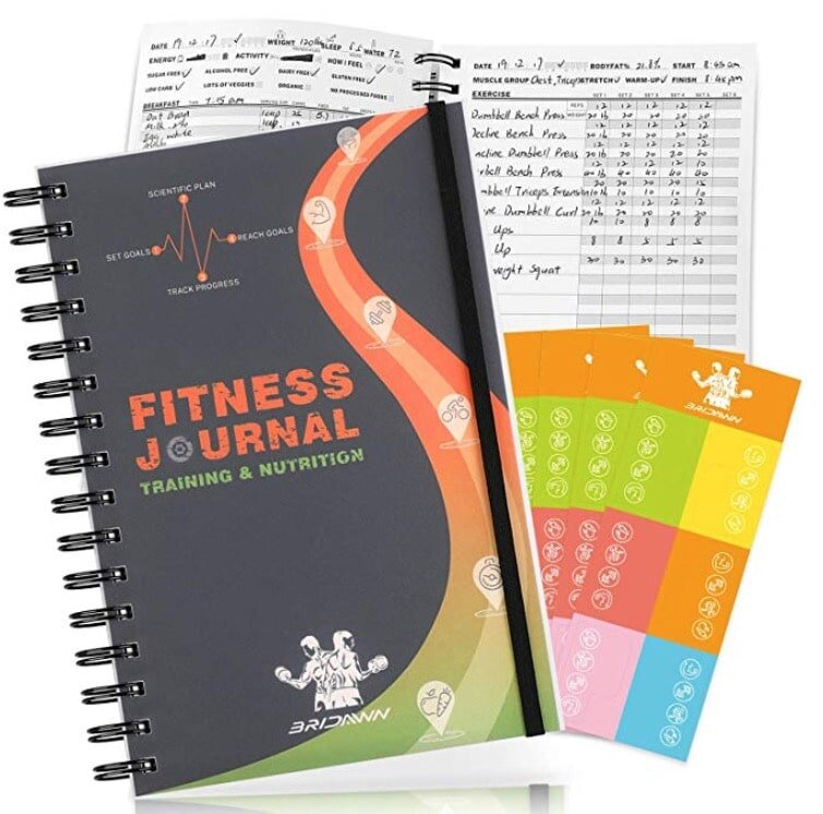 Keep track of all your exercises and your meals with this handy journal.