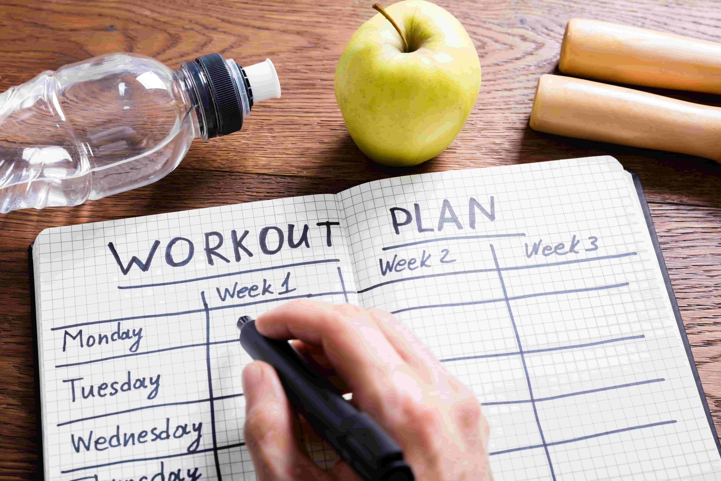 Keeping track of your workouts and successes can encourage working out.