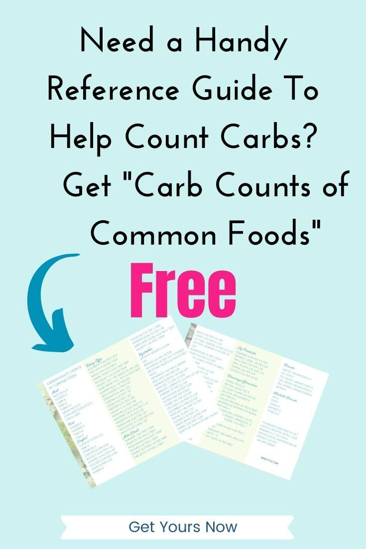 "Offer for free guide, ""carbohydrate counts of common foods."""